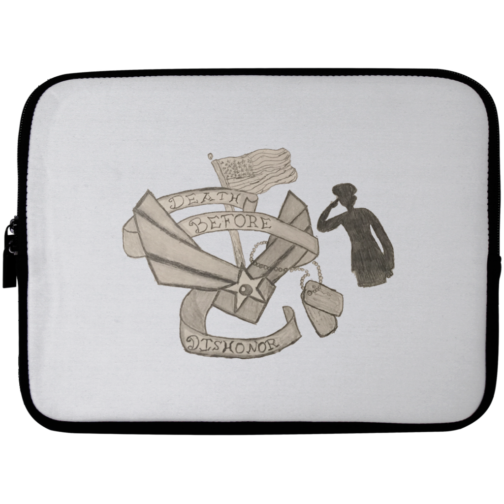 Death Before Dishonor Laptop Sleeve - 10 inch