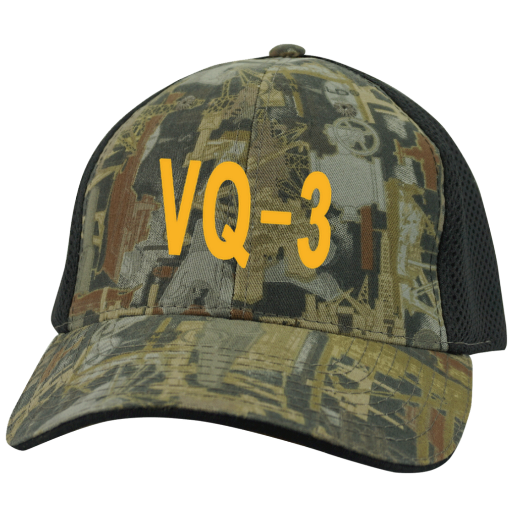 VQ 03 3 Camo Cap with Mesh