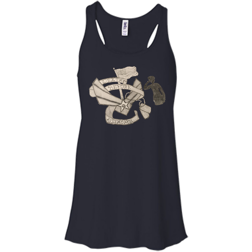Death Before Dishonor Flowy Racerback Tank
