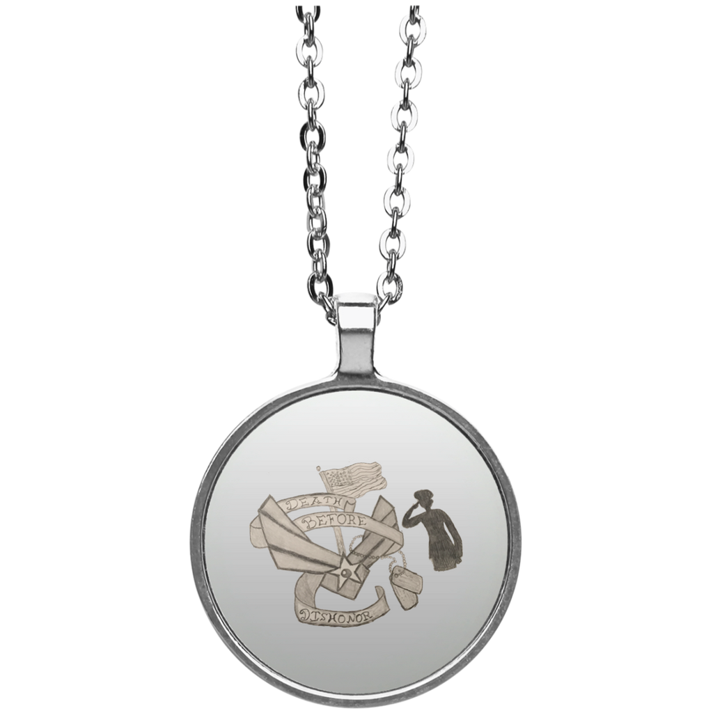 Death Before Dishonor Circle Necklace