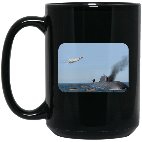 Abandon Ship Black Mug - 15oz