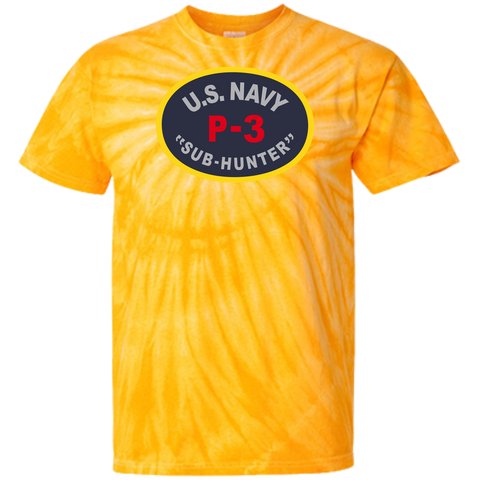 P-3 Sub Hunter 1 Customized 100% Cotton Tie Dye T-Shirt