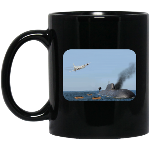 Abandon Ship Black Mug - 11oz