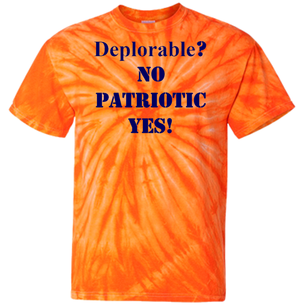 Deplorable Customized  100% Cotton Tie Dye T-Shirt