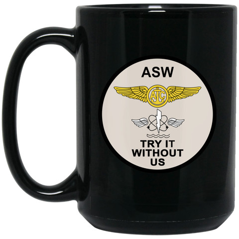 ASW 01 Black Mug - 15oz