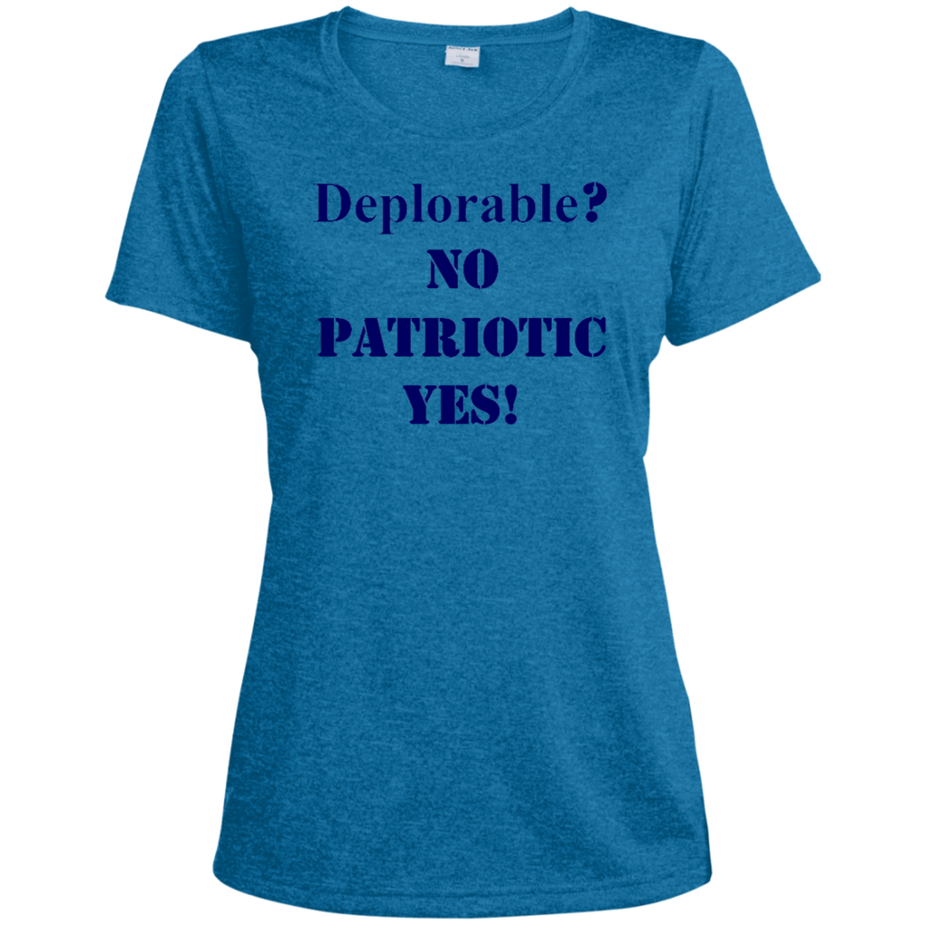 Deplorable Ladies Heather Dri-Fit Moisture-Wicking Tee