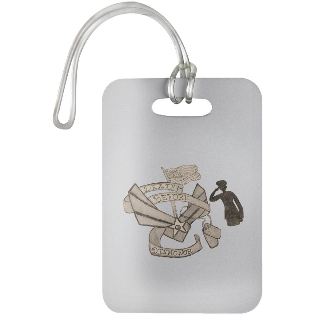 Death Before Dishonor Luggage Bag Tag