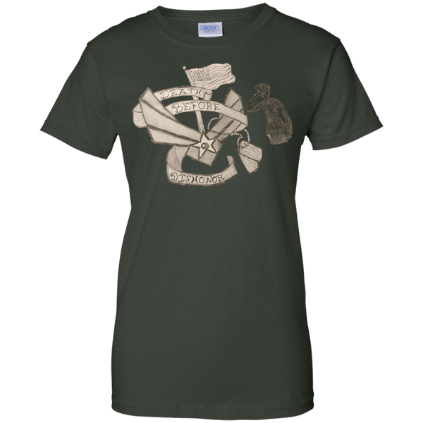 Death Before Dishonor Ladies Custom Cotton T-Shirt