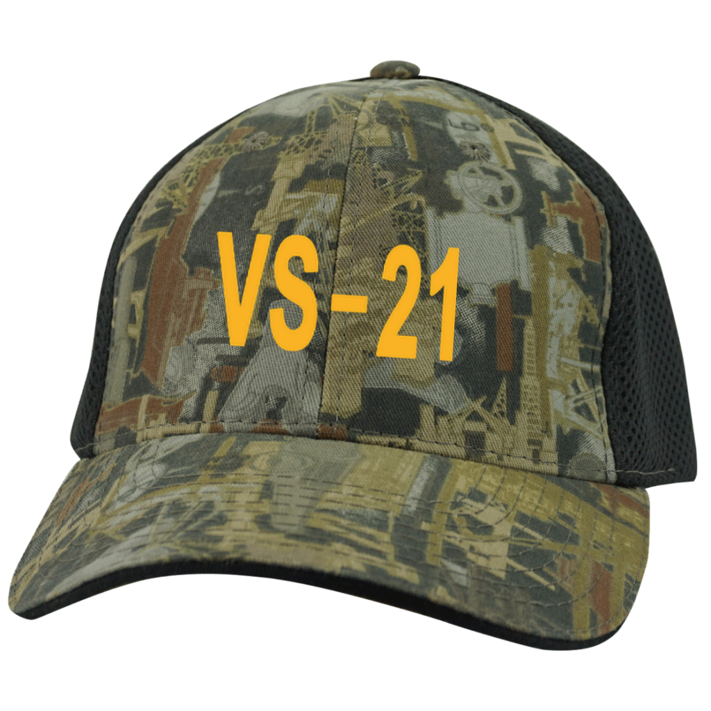 VS 21 3 Camo Cap with Mesh