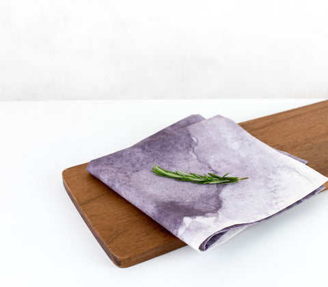 Aurora - Eggplant | Eco-Friendly Napkins | Wolf & Irving