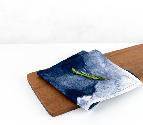 Aurora - Navy | Eco-Friendly Napkins | Wolf & Irving