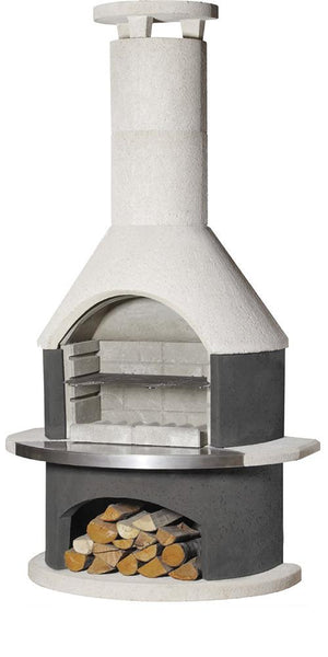 Buschbeck Rondo Grey BBQ / Outdoor Fireplace