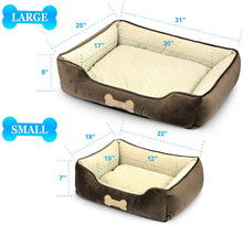 "Load image into Gallery viewer, Fluffy Paws Pet Lounger Pet Bed Premium Bedding with Super Soft Padding and Anti-Skid Bottom for Dogs & Cats [Lightweight, Self-Warming], Dark Brown - Large 31"" x 25"" x 8"