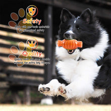 Load image into Gallery viewer, Fluffy Paws Dog Tennis Ball, Squeaky Dog Toy with Textured Fat Bone Squeaky Rubber, Clean Teeth, Massage Gums, Pet Toy IQ Training Playing and Chewing, for Small and Medium Dog Puppy, Orange