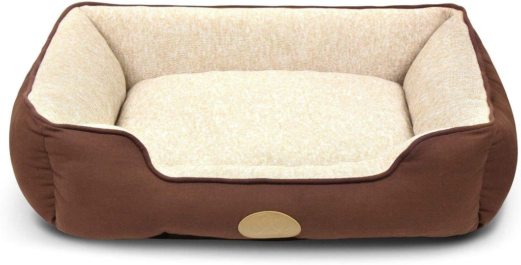 Fluffy Paws Pet Lounger Pet Bed Premium Bedding with Super Soft Padding and Anti-Skid Bottom for Dogs & Cats [Lightweight, Self-Warming], Brown - Large 31