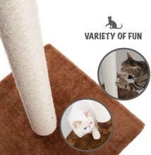 Load image into Gallery viewer, Fluffy Paws Cat Scratching Post, [25 x 16 x 16] Durable Sisal Wrapped, Ultimate Cat Kitten Scratcher, Keep Claws Active & Protect Your Furniture, Carpeted Based Play Area Brown