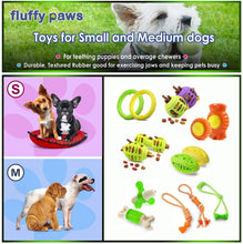 Load image into Gallery viewer, Fluffy Paws Dog Treat Ball, Rugby Shaped Rubber Pet Toy Feed Ball (Dental Treat & Bite Resistant) Durable Non Toxic Strong, Teething, IQ Training, Chewing, Playing for Small and Medium Dog Puppy
