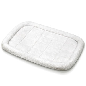 "Fluffy Paws Foldable Soft Fleece Pet Crate Mat Bed with Accessories Pocket for Crates, Pet Carriers - for Dogs & Cats, Machine Washable, Anti-Skid Bottom - Small 23"" x 18"" x 3"""