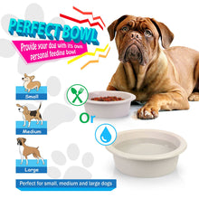 Load image into Gallery viewer, Fluffy Paws Pet Food Water Feeding Bowl with microbeFENCE Technology, Super Durable & Large Capacity for Small Medium & Large Dogs Cats, FDA Approved BPA Free Food Safety & Dishwasher Safe