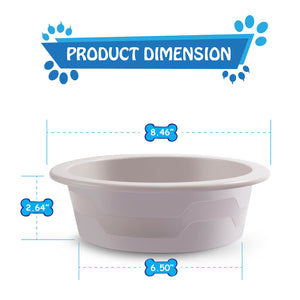 Fluffy Paws Pet Food Water Feeding Bowl with microbeFENCE Technology, Super Durable & Large Capacity for Small Medium & Large Dogs Cats, FDA Approved BPA Free Food Safety & Dishwasher Safe