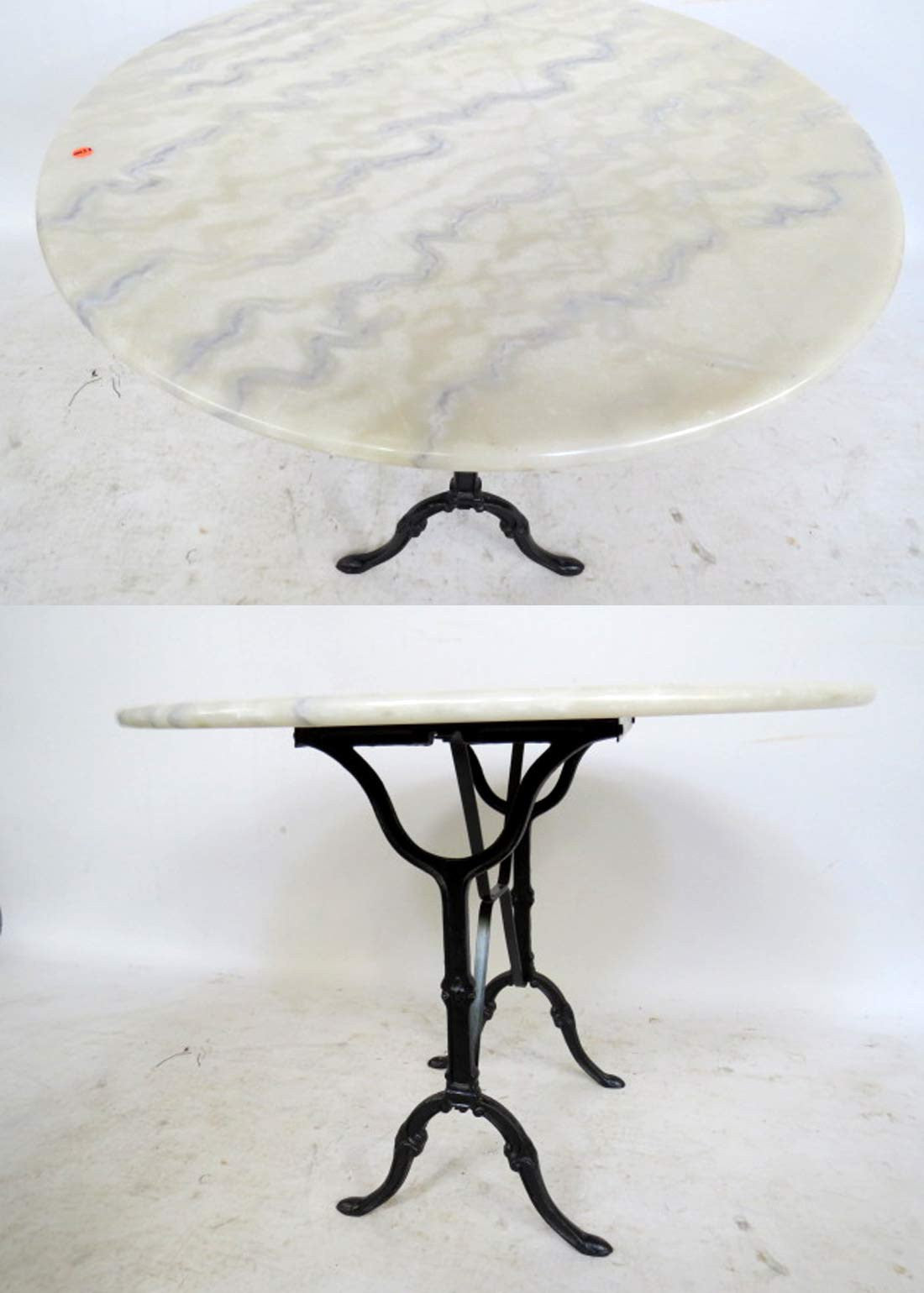 Round Marble Top Bistro Table‏