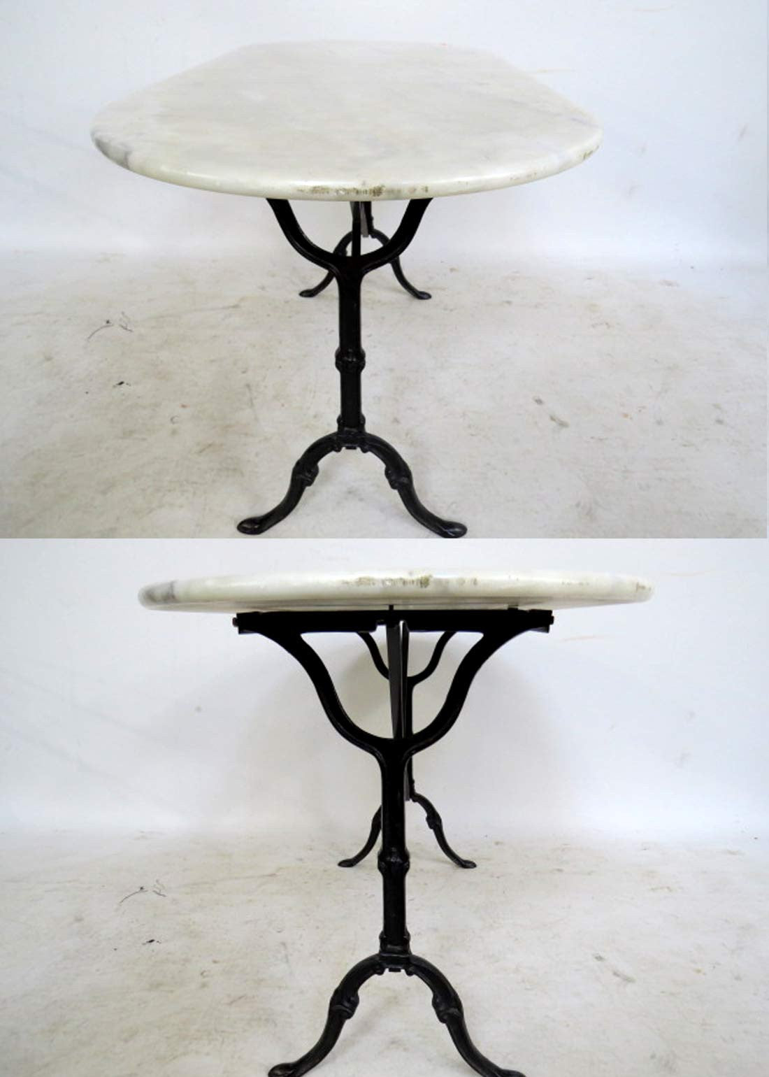 Oval Marble Top Bistro Table‏