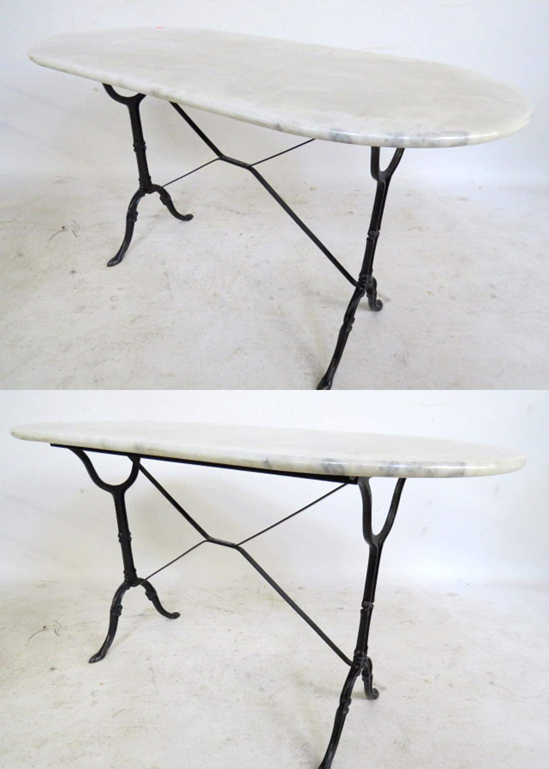 Oval Marble Top Bistro Tableu200f