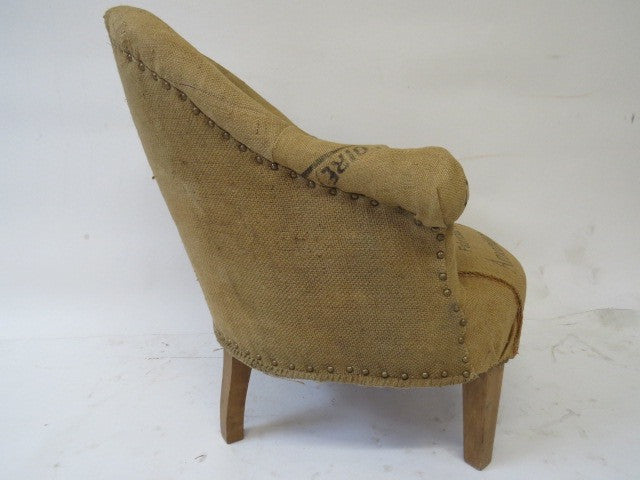 Fantastic slipper chair reupholstered