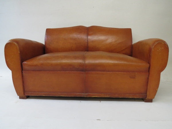 Leather sofa bed club