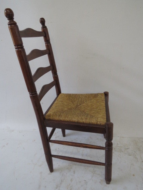 Vintage Ladder Back Chairs with Cane Seats