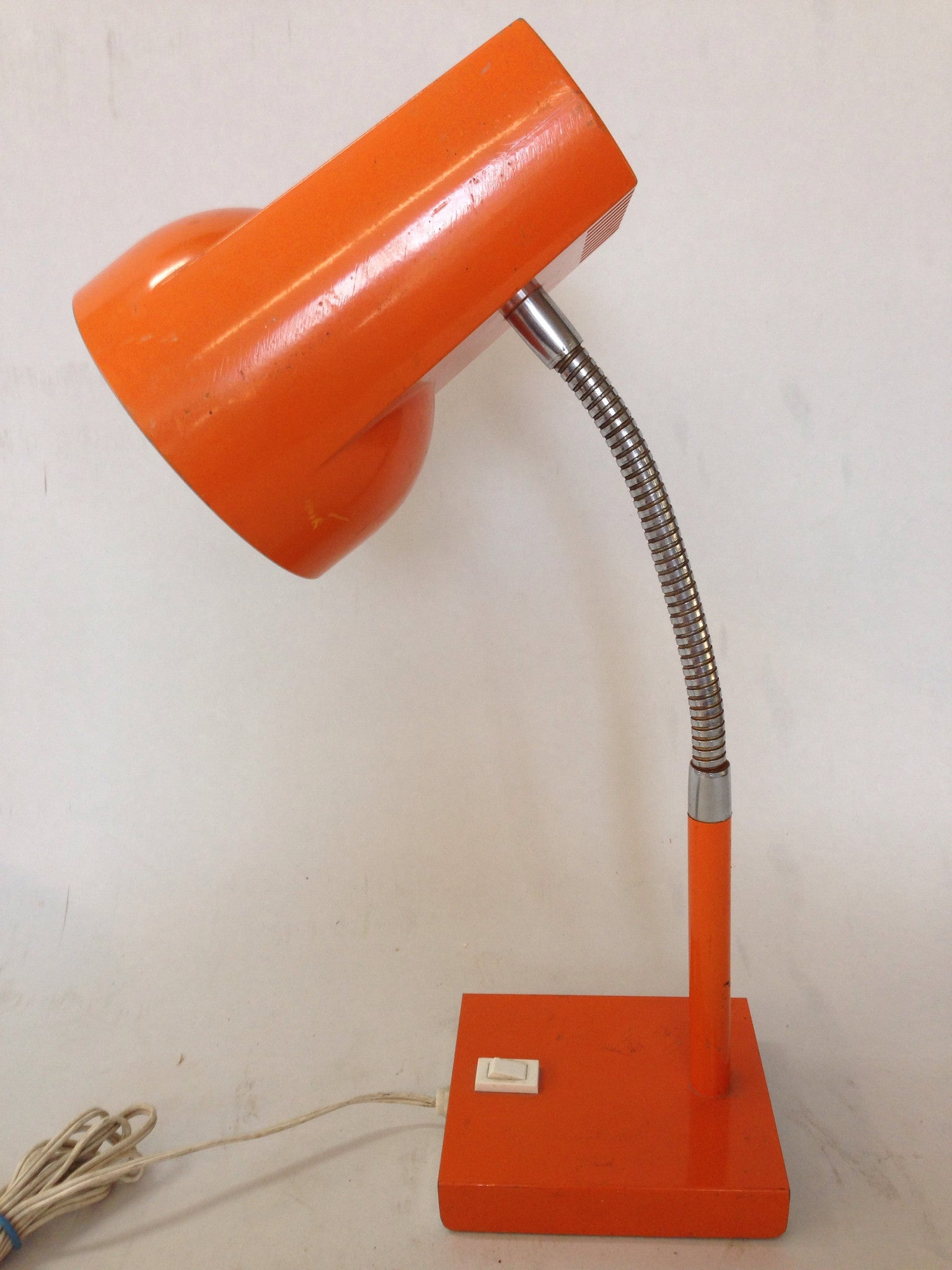 1970's Orange Desk Lamp
