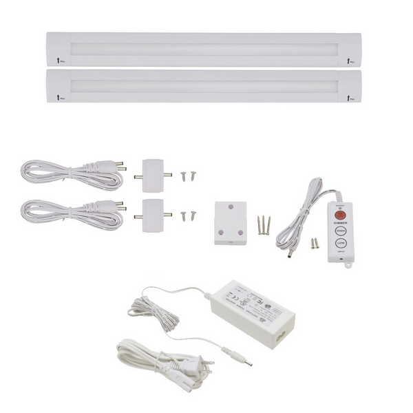 40 Inch LED Bar Lighting | Under Cabinet Lighting | Pack of 2 w/ Accessories