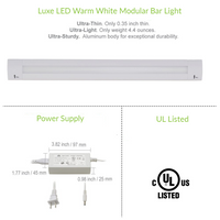 16 Inch LED Bar Lighting | Under Cabinet Lighting | Pack of 3 w/ Accessories