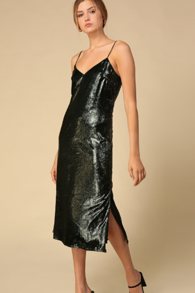 Kayla Metallic Slip Dress