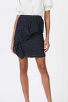 Small Check Pattern Ruffled Mini Skirt