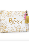 Gold Gilded Flowers Large Tassel Pouch