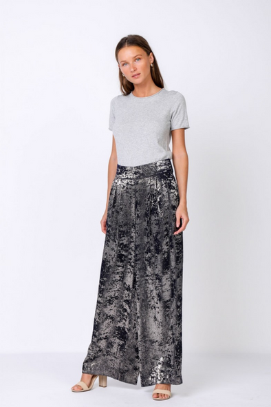 Abstract Foiled Long Pants