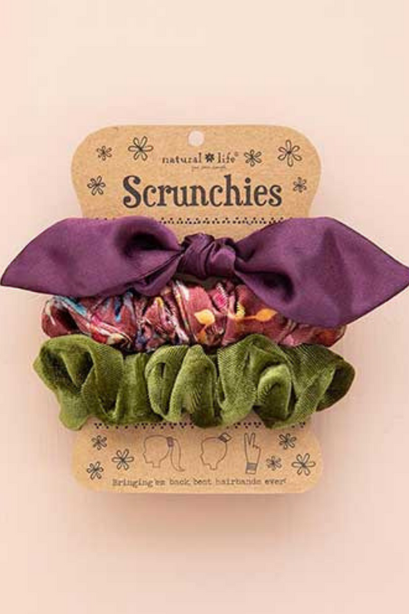 Purple Bow Scrunchies