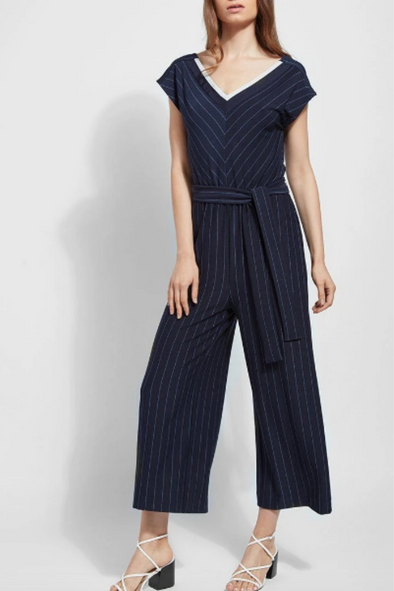 Pinstripe Anchor Jumpsuit