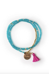 Beaded Tassel Bracelet (more colors)