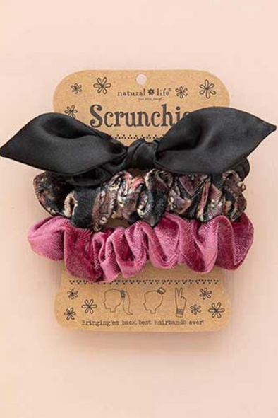 Black Bow Scrunchies