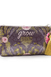 Purple Grow Small Tassel Pouch