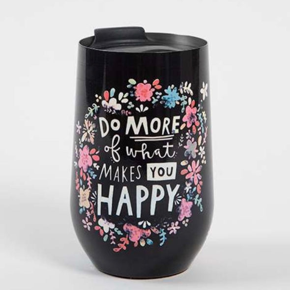 Natural Life-Do more of What Makes you Happy wine tumbler