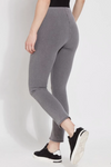 Split Denim Ankle Leggings