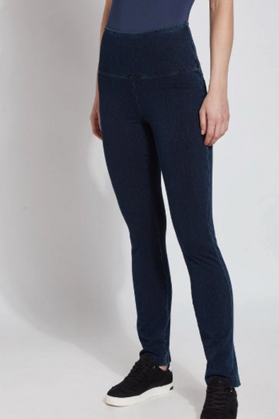Denim Straight Leg Leggings