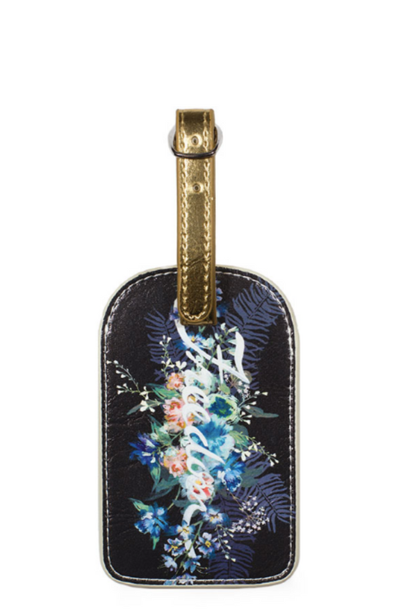 Black Freedom Bouquet Luggage Tag