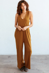 Indra Striped Sleeveless Jumpsuit