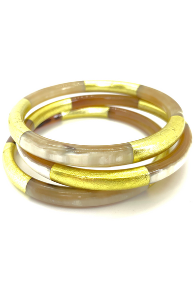 Gold Lacquered Horn Bangles