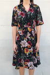 Floral Water Color A-Line Dress