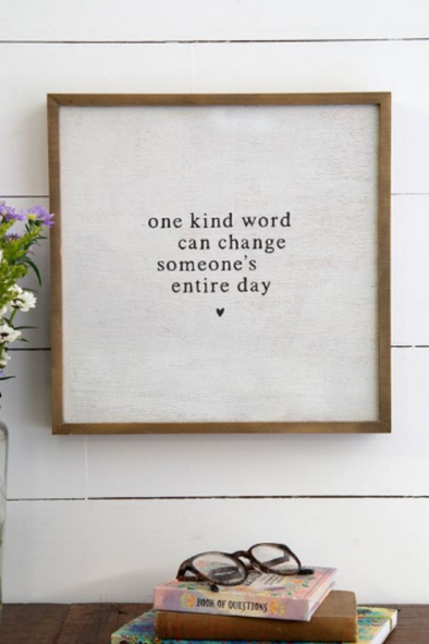 One Kind Word Bungalow Wall Art